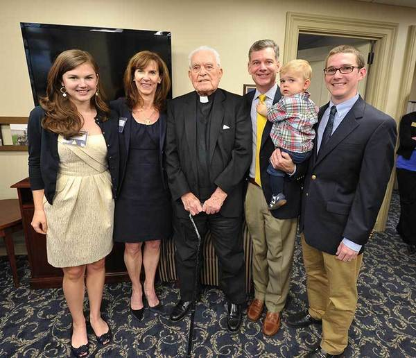Yusko Family with Father Hesburgh