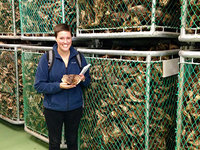 Rachel Ganson studying fish preservation in Iceland
